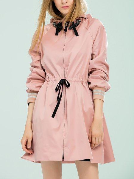 Hoodie Long Sleeve Solid Street Coat