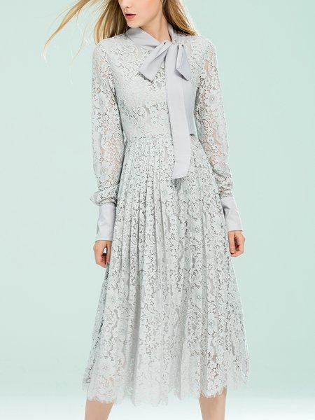 Plain A-line Long Sleeve Evening Dress