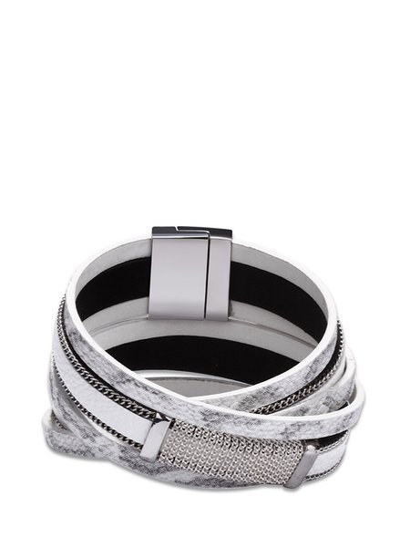White Alloy Bracelet