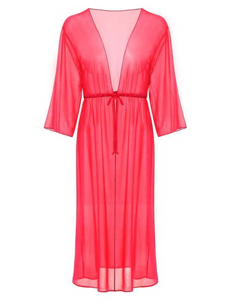 Peach Solid Coverup