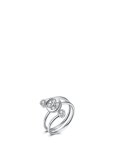 Silver Round 925 Sterling Silver Ring