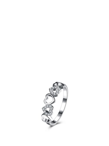 Silver Heart 925 Sterling Silver Ring
