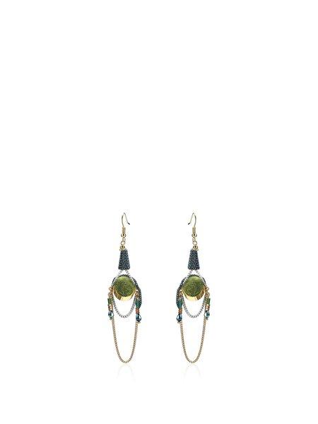 Multicolor Copper Earrings