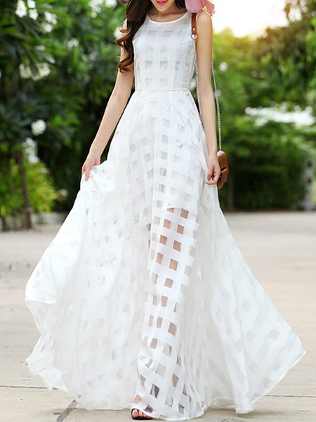 Swing Organza Paneled Elegant Holiday Dress