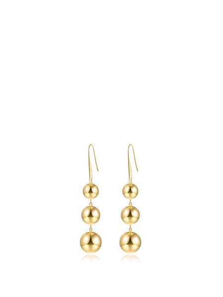 Golden Alloy Round Earrings