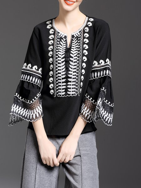https://www.stylewe.com/product/frill-sleeve-crew-neck-casual-long-sleeved-top-75225.html