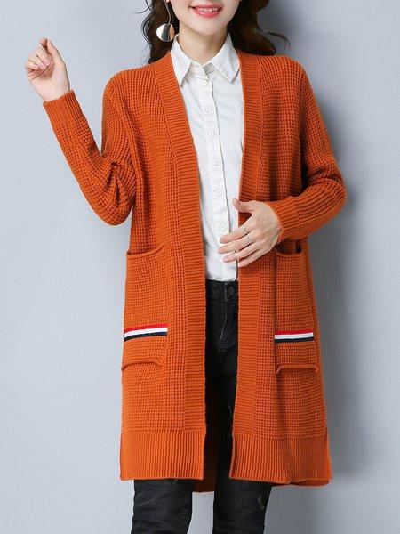 Casual Paneled Long Sleeve Cardigan