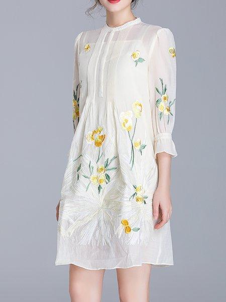 Two Piece Casual 3/4 Sleeve Midi Dress