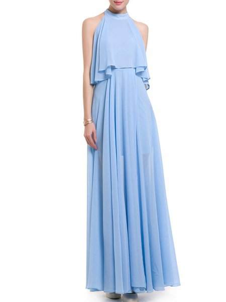 Sleeveless Slit Elegant Maxi Dress