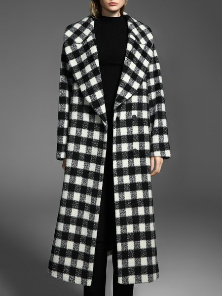 Black Symmetric Casual Lapel Coat