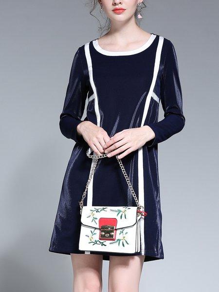 Dark Blue  Elegant Midi Dress