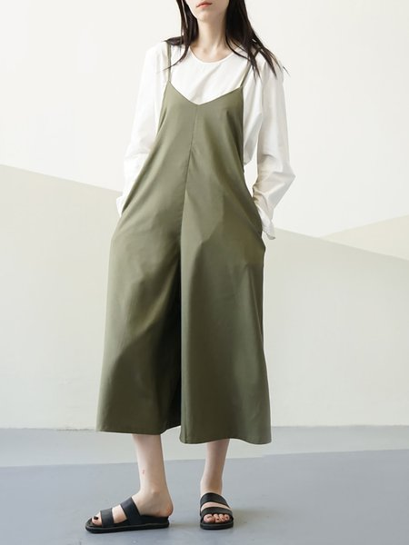 Army green Shift Spaghetti Overall