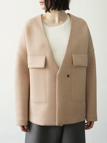 Simple Buttoned Long Sleeve Coat