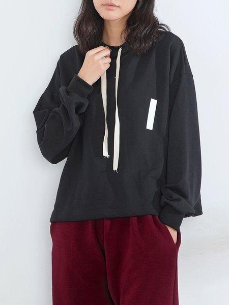 Simple Hoodie Color-block Hoodies And Sweatshirt