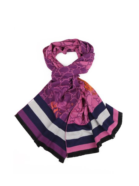 Purple Casual Scarf