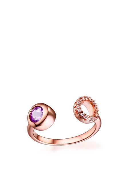 Rose Golden-Color Color Round Ring