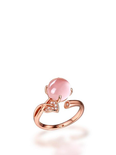 Crystal Adjustable Round Ring