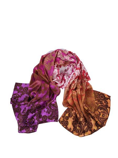 Multicolor Silk Vintage Printed Scarf
