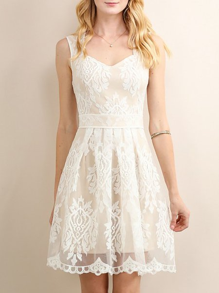Pearl White Sweet Sweetheart Mini Dress