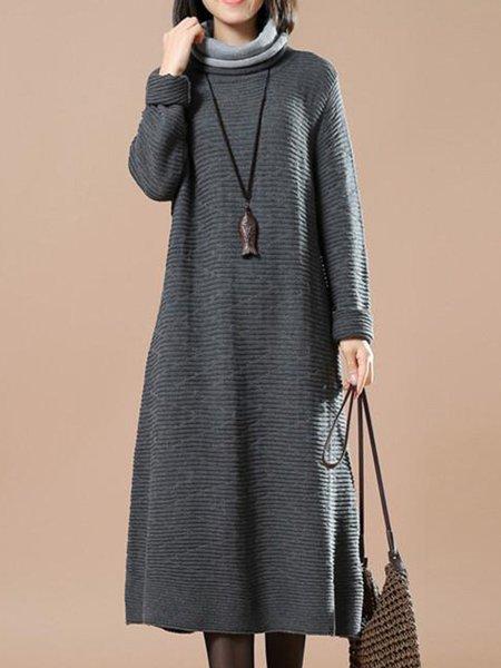 Casual Knitted Long Sleeve Linen Knitwear