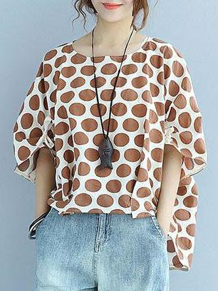 Half Sleeve High Low Casual Linen Top
