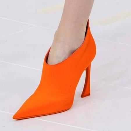 Orange PU Spring/Fall Boots