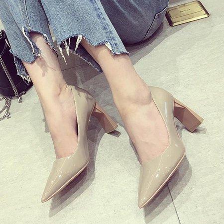 Spring/Fall PU Heels