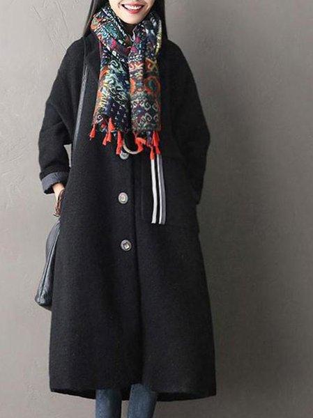 Long Sleeve Casual Buttoned Linen Outerwear