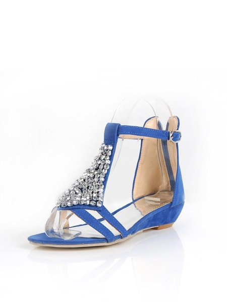 Black Outdoor Summer PU Zipper Kitten Heel Sandals