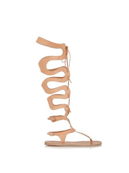 Brown Flat Heel Outdoor Lace-up Summer Sandals