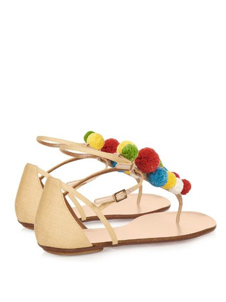 Yellow Spring/Fall Buckle Cloth Flat Heels