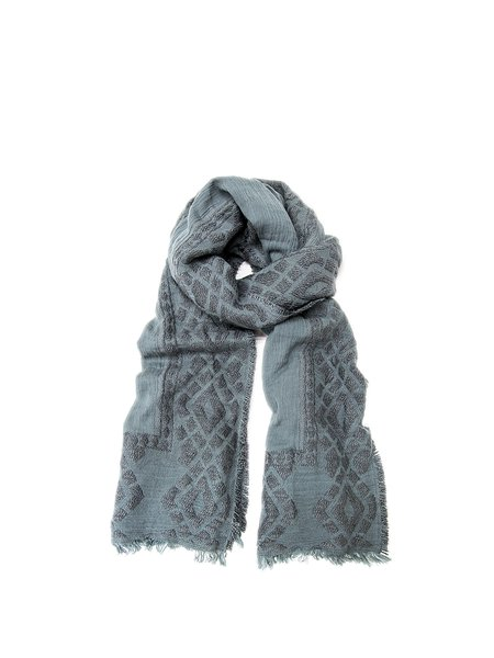 Light Blue Casual Cotton-blend Scarf