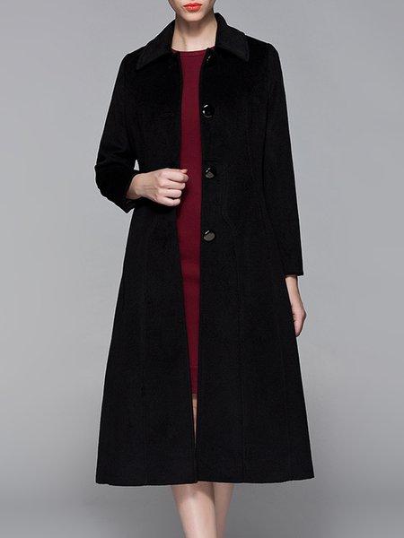 Pockets A-line Long Sleeve Coat