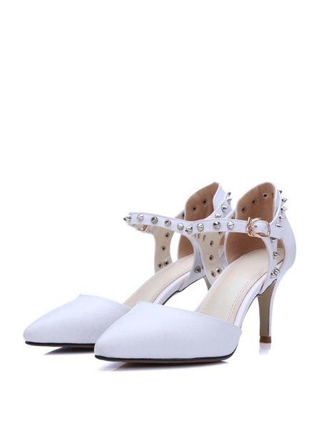 Buckle PU Stiletto Heel Heels