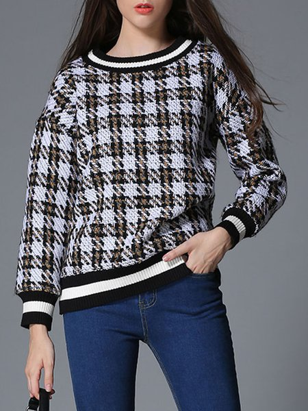 Black H-line Printed Long Sleeve Sweatshirt