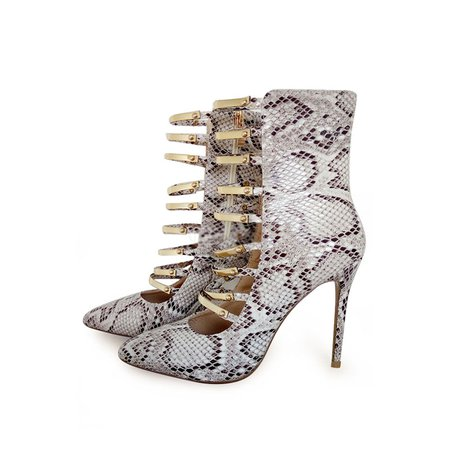 White Hollow-out Spring/Fall Stiletto Heel Heels
