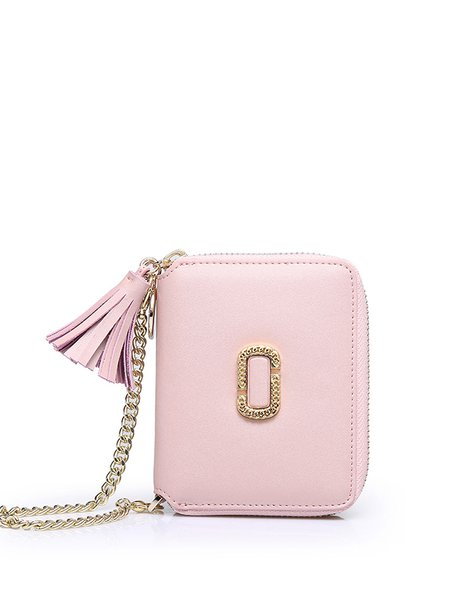 Zipper Leather Simple Wallet