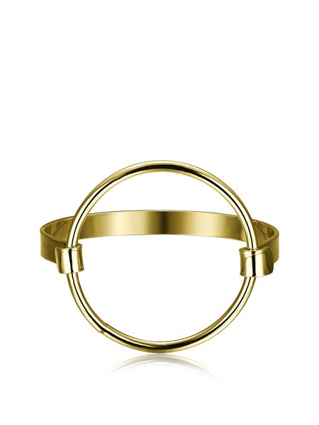 Golden Synthetic Materials Round Bracelet