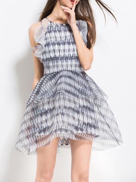 Silk-organza Girly Sleeveless Mini Dress