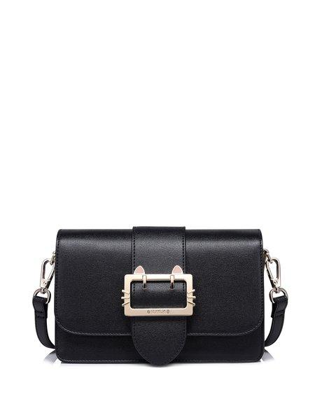 Black Magnetic Sweet PU Shoulder Bag