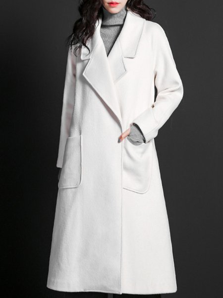 Long Sleeve Blend H-line Simple Coat