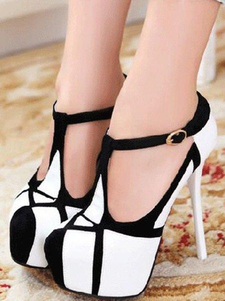 Casual Stiletto Heel Summer PU Heels