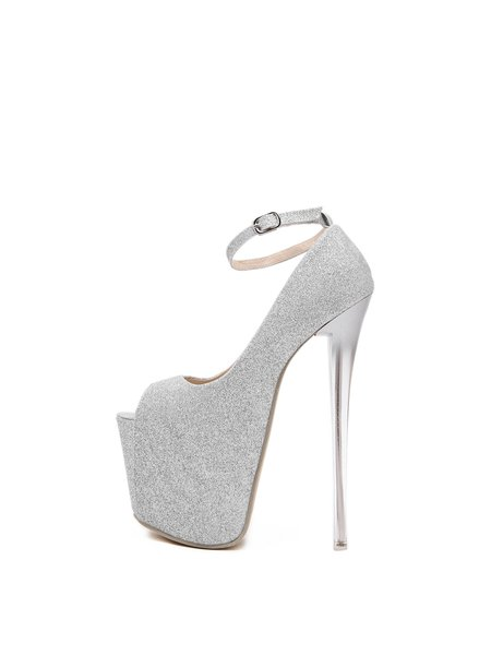 Party & Evening Spring/Fall Stiletto Heel PU Buckle Heels