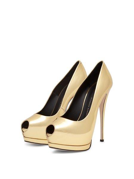 Golden Casual PU Stiletto Heel Heels