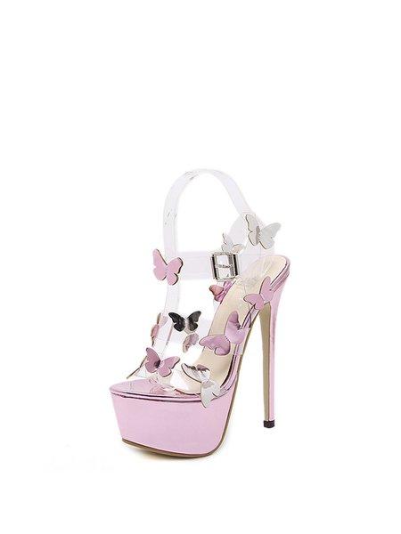Purple Buckle Stiletto Heel Spring/Fall Heels