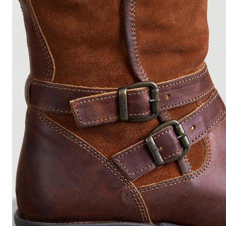 boots pour brides avec bottines boots Low petit femme bi matière martin talon à carré PkTZuOXi
