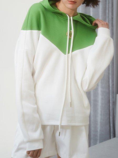 Hoodie Color-block Long Sleeve Sweatshirt