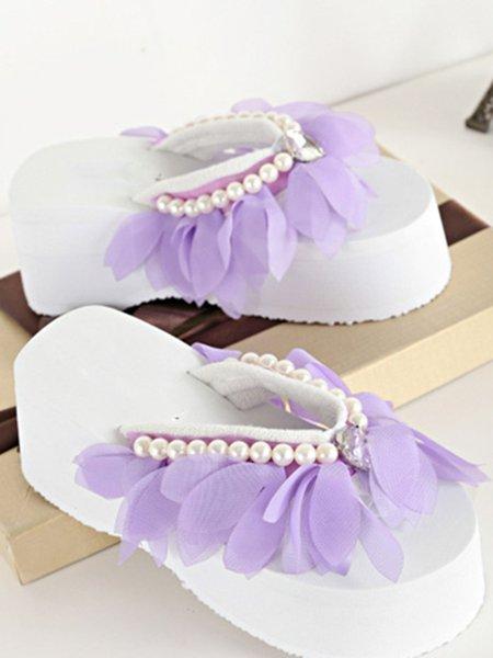 Casual Beading Mesh Sandals