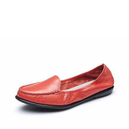Red Flat Heel  Leather Comforts