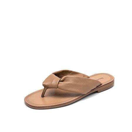Brown Flat Heel Casual Slippers
